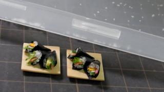 手巻き寿司、巻きました。