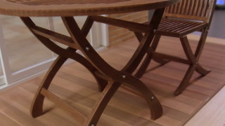 ガーデンテーブルセットを仕上げました