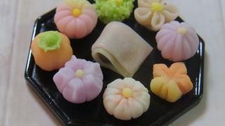ミニチュア上生菓子を盛り付けてみました。