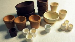 植木鉢をいろいろ作りました