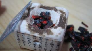 七輪に入れる炭を作りました。
