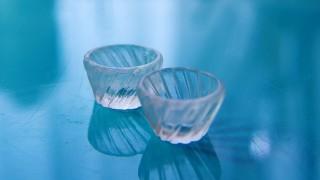 レトロなガラスの器