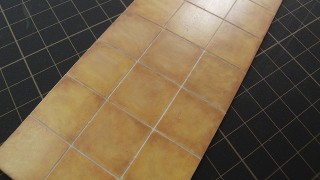 昨日作った床作り直しました