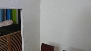 壁塗りました