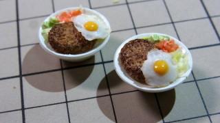 ロコモコ丼とマーボー丼の仕込み中