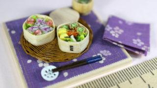 ミニチュア★お花見弁当をオークションに出品