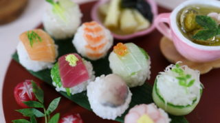 動画★ミニチュア手毬寿司、Youtubeにアップ。