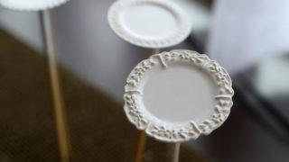 ややこしい模様の入った皿