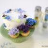 青のハーバリウムとフラワーケーキ